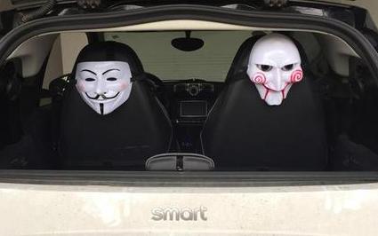 恐怖车贴妨碍安全驾驶 将应以处罚